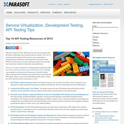 Top 10 API Testing Resources of 2014