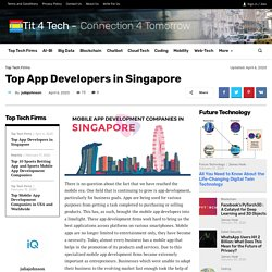 Top App Developers in Singapore