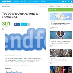 Top 10 Web Applications for FriendFeed