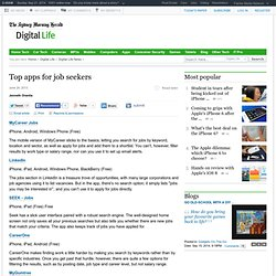 Top apps for job seekers