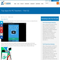 Top Apps for PE Teachers – Part 32