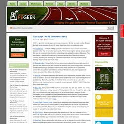 "Top ""Apps"" for PE Teachers - Part 3"