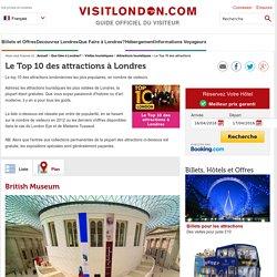 Les 10 meilleures attractions de Londres
