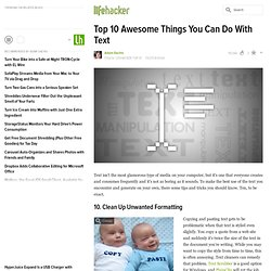 Top 10 Awesome Things You Can Do With Text
