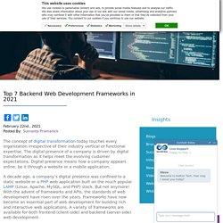 Top 7 Backend Web Development Frameworks in 2021