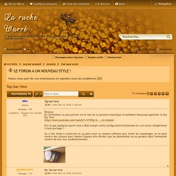 Top bar hive - La ruche Warré