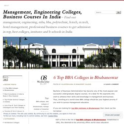 6 Top BBA Colleges in Bhubaneswar