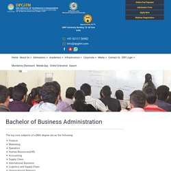 BBA Colleges in DELHI NCR