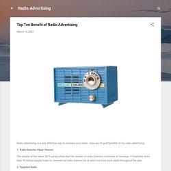Top Ten Benefit of Radio Advertising