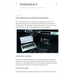 Top 5 benefits of engine remapping