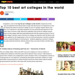 Top 10 best art colleges in the world