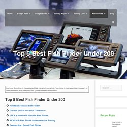 Top 5 Best Fish Finder Under 200