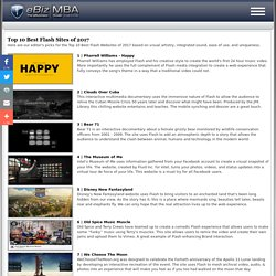 Top 10 Best Flash Websites of 2012