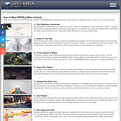 Top 10 Best HTML5 Websites of 2012