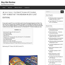 """Top 10 Best 65"""" TVs review in 2017 (1st edition) - Buy Me Review"""
