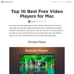 best video players for mac 2016