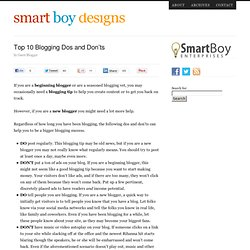 Top 10 Blogging Dos and Don'ts