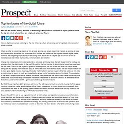 Top ten brains of the digital future « Prospect Magazine
