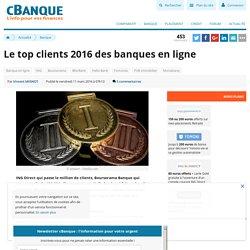 Le top clients 2016 des banques en ligne