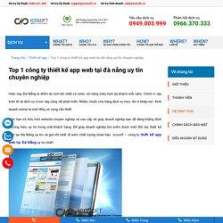 Top 1 công ty thiết kế app web tại đà nẵng uy tín chuyên nghiệp