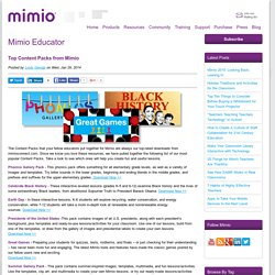 Top Content Packs from Mimio