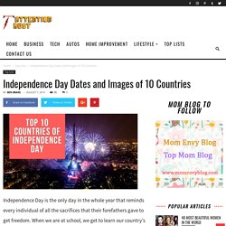 Top 10 Countries of Independence Day
