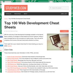 The Cheat Sheet Cheat Sheet: Top 100 Lists of Web Development Ch