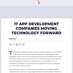 Top 17 App Development Companies 2020