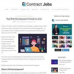 Top Web Development Trends in 2021