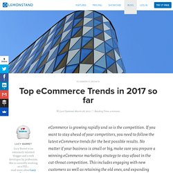 Top eCommerce Trends in 2017 so far