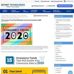 Top 15 ecommerce trend in 2020 - Skynet Technologies