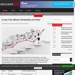 Le top 5 des éditeurs d'évaluation en France