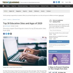 Top 30 Education Sites and Apps of 2020