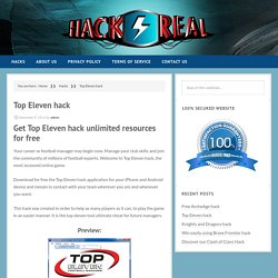 » Top Eleven hack – Hack4eal.com