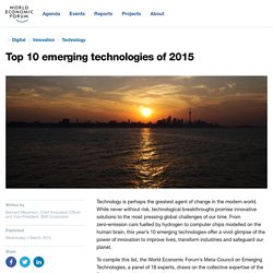 Top 10 emerging technologies of 2015