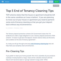 Top 5 End of Tenancy Cleaning Tips