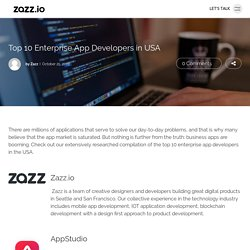 Top 10 Enterprise App Developers in USA - Zazz