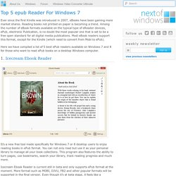 Top 5 epub Reader For Windows 7