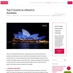Top 9 Events to Attend in Australia
