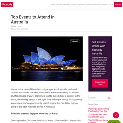 Top Events to Attend in Australia