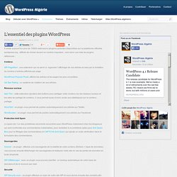 Top extensions WordPress