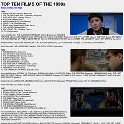 Top Films of the 1990s