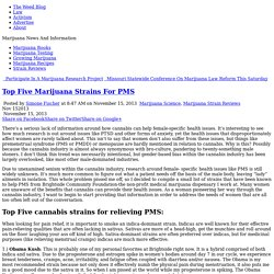Top Five Marijuana Strains For PMS
