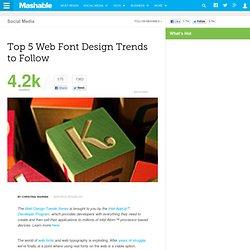 Top 5 Web Font Design Trends to Follow