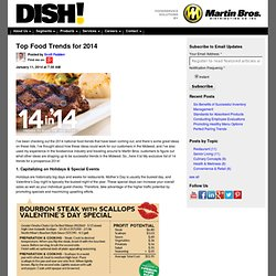 Top Food Trends for 2014