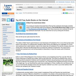 Top 40 Free Audio Books on the Internet