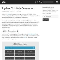 Top Free CSS3 Code Generators