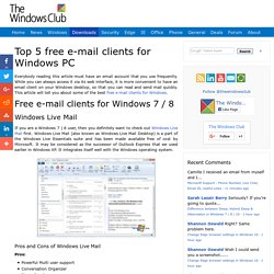 Top 5 free e-mail clients for Windows PC