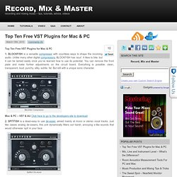 Top Ten Free VST Plugins for Mac & PC