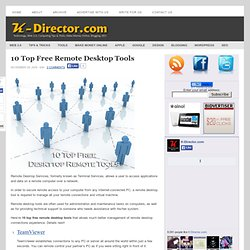 10 Top Free Remote Desktop Tools